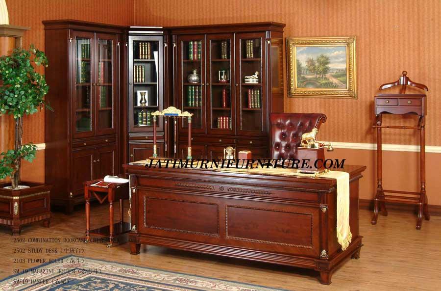 Meja Kantor Jati Jepara Mewah