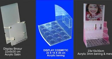 Jual Display Kosemetik, Tempat Kosmetik Acrylic